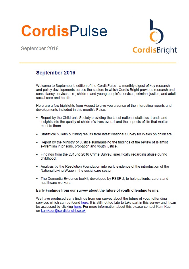 Cordis Pulse: September 2016