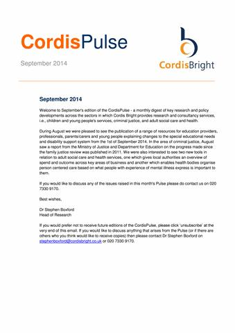 Cordis Pulse: September 2014