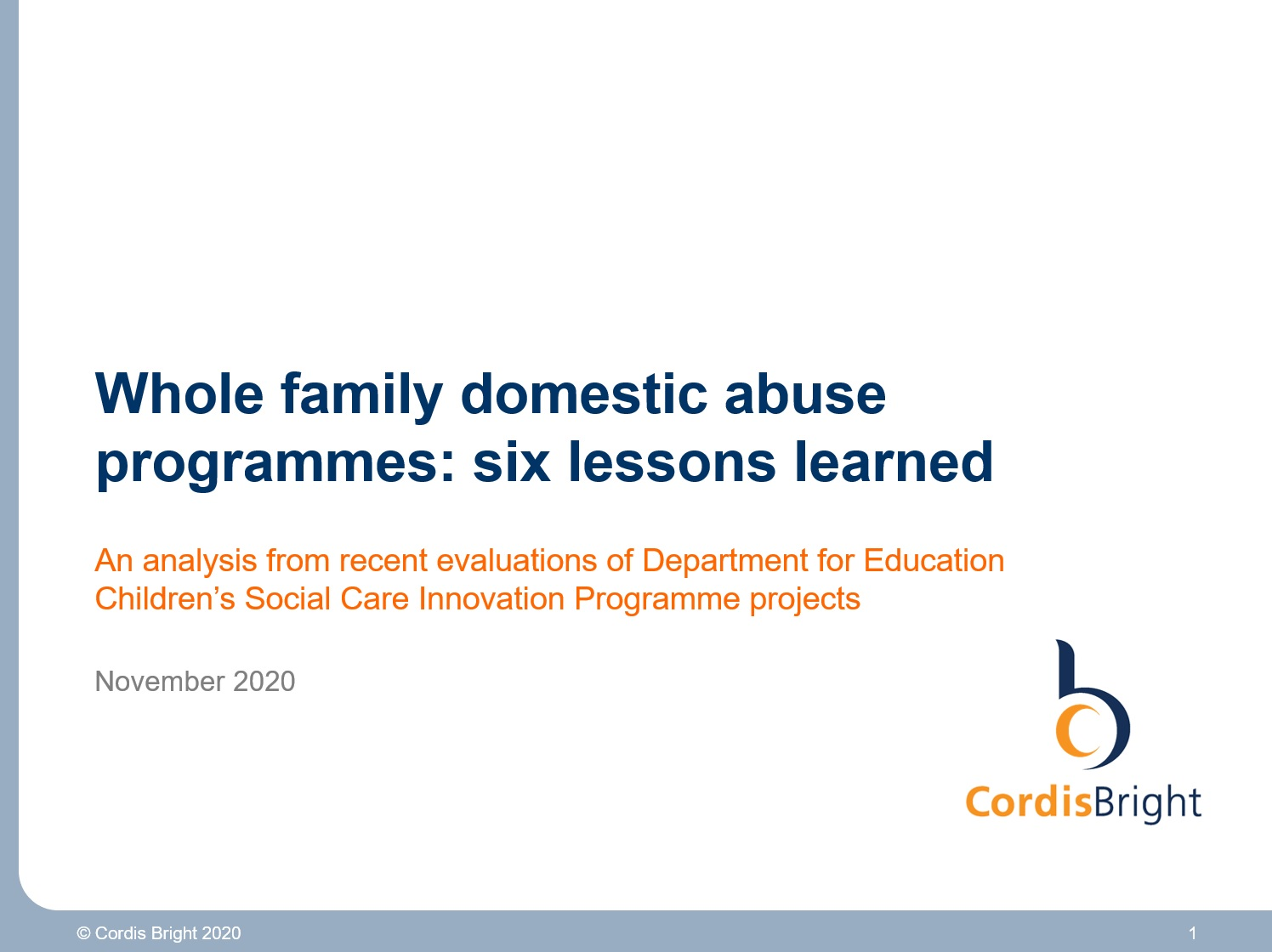 Whole family domestic abuse programmes